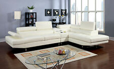 White In Color Sectional Sofa Set Contemporary Look Modern Living Room Design