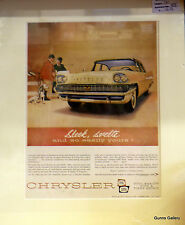 Original Vintage Advertisement mounted ready to frame Chrysler 1958