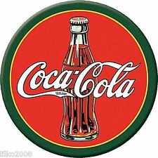 "COCA COLA/ COKE 1930s BOTTLE & LOGO, ROUND 12""METAL/ STEEL WALL SIGN, REPRO"