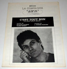 Partition ancienne vintage sheet music HUGUES AUFRAY : C'est Tout Bon * 60's