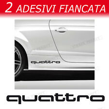 ADESIVI AUDI QUATTRO lato  A1 A3 A4 A5 A6 Q3 Q5 Q7 TT S1 RS Sline decal stickers