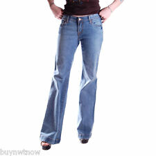 7 For All Mankind Jeans Distressed Light Wash Flares NWOT Size 26 x 34 Unisex