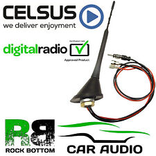 23cm DAB Digital Radio AM/FM Roof Mount Whip Mast Car Aerial Antenna AN3022DAB