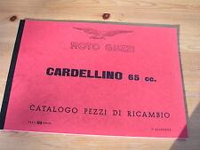 Moto GUZZI Cardellino 65cc, comité exécutif. pièce de rechange liste 1. Edit. 1955