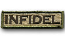 infidel Morale Tactical Patch Multitan 3.75 inch HOOK LOOP PATCH