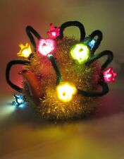 LED Lit Christmas Tinsel and Fairy Lights Tea Cosy Knitting Pattern