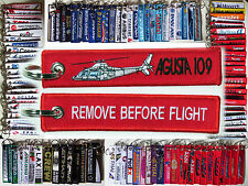 Agusta Westland 109 helicopter remove before flight pilot keyring keychain tag