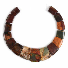 g0876 Multi-color picasso jasper pendant beads set