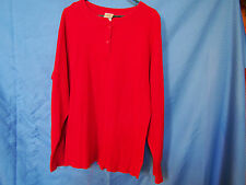 Vintage LL BEAN Women's River Driver's Shirt Two Layer Cotton Wool RED Size XL