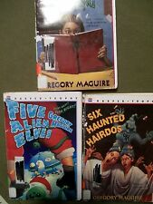 3 PAPERBACK BOOK SALE BY GREGORY MAGUIRE 5 ALIEN ELVES, 6 HAUNTED HAIRDOS & ....