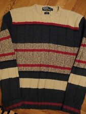 RARE Polo Ralph Lauren WOOL SILK CREAM HEATHER GREEN Sweater Men's MEDIUM