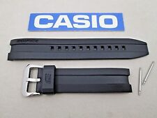 Genuine Casio Edifice EMA-100 black resin rubber watch band strap + pins