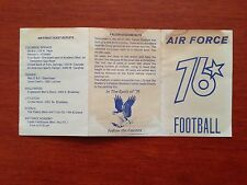 CFB 1976 AIR FORCE FALCONS USAFA Academy Football Schedule College FB