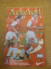 15/02/1998 Arsenal v Crystal Palace [FA Cup] . Any faults are noted in brackets,