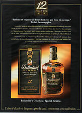 Publicité Advertising 1991 WHISKY  Ballantine's