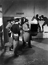 Photo originale Delon Salvatori Rocco e i suoi fratelli tournage Visconti boxe
