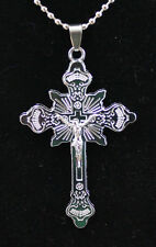New Stainless Steel Cross The Crucifixion Good Friday Pendant Necklace DZ2
