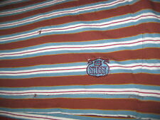 RARE VINTAGE STUSSY T SHIRT STRIPPED ORIGINAL USA LARGE WITH STAINS SOME HOLES