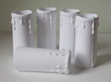 5 x Plastic Candle Drip Lamp holder Cover in White 32mm x 70mm Approx