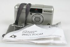 FUJIFILM ENDEAVOR 265IX ZOOM POINT AND SHOOT FILM CAMERA W/ MANUAL + WRIST STRAP