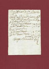 Nota di Pagamento Sig. Biagio Montanucci Lavorazione Manzo Corno di Rosazzo 1689