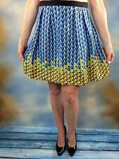 NEW $278 MARC BY MARC JACOBS Blue Paradox Flared Silk Skirt Sz 4 S