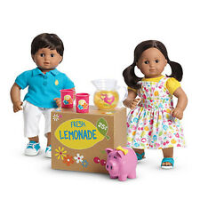 "American Girl BT BITTY TWIN LEMONADE STAND SET for 15"" Baby Dolls Pitcher NEW"