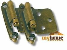 Cabinet Hardware Door Flush Hinges Antique Brass Hinge (pair)