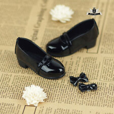 MSD Shoes 1/4 BJD Shoes Dollfie EID MID Luts AOD DOD SOOM Lolita Black Shoes 322