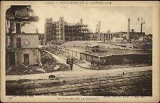 WWI Lille Belgium January 1916 Explosion Damage Blvd de la Moselle Postcard