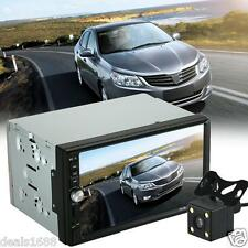"7"" Double 2Din In Dash Car Stereo MP3 MP5 Player Touch Bluetooth FM Radio Camera"
