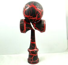 Beautiful Black on red Kendama All-Over Crackle Pattern matt paint P_9