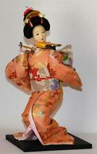 JAPANESE FAN DANCING LADY DOLL in TRADITIONAL THEMED COSTUME Oriental Geisha