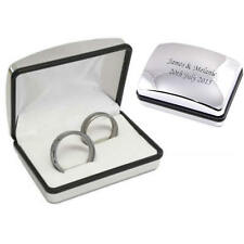 Personalised Engraved Chrome Double Ring Box - Wedding Gift (XRB01)