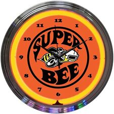 Dodge Super Bee Neon Clock 8SUPER w/ FREE Shipping