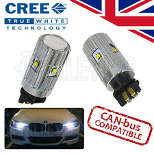 BMW 3 serie F30 11-on Blanco LED DRL 30w CREE Super Brillante Bombillas PWY24W PW24W