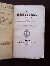 Le ménestrel des Vosges - Recueil de romances, chansons, etc.