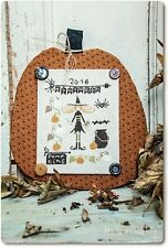 """Pumpkins for Halloween"" Cross Stitch Pattern by MADAME CHANTILLY"