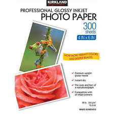 "Kirkland Professional Glossy Photo Paper - 4"" x 6"" (300 sheets) FAST SHIPPING"