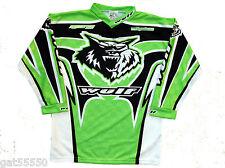 New Wulfsport Kids Green 5-7 Years Jersey Shirt Motocross Quad Kx Top Boy Junior