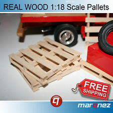 1/18 Pallets for Garage Diorama (REAL WOOD and to SCALE)