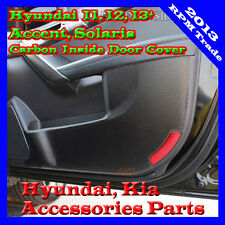 Carbon Protect Inside Door Guard Cover For 2011 ~ 2015+ Hyundai Accent Solaris