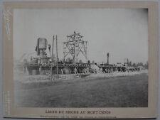 Photo Chemin de FerLigne Rhône Mont Cenis Culoz à Chindrieux Vers 1900