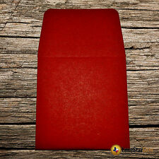 100 2x2 Red Paper Coin Envelopes - Acid and Sulpher Free - Safe for Coins