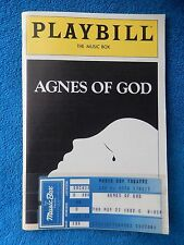 Agnes Of God - Music Box Theatre Playbill with Ticket - May 27th, 1982 - Ashley