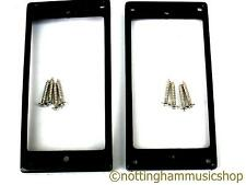 2 black curved humbucker pickup surrounds rings +chrome screws ring LP guitar