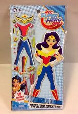 DC Comics Super Hero Girls Paper Doll Sticker Set WONDER WOMAN TOY CRAFT FIGURE