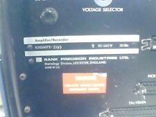 Rank Precision Taylor Hobson K510/407E-2517 Amplifier Recorder