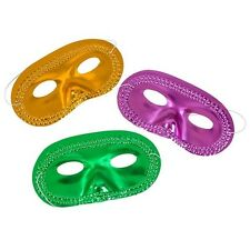 WHOLESALE - 12 MARDI GRAS HALF MASKS!!! face costume party bulk