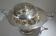 International Sterling Silver Wedgwood Tureen/Footed Centerpiece Pierced Lid
